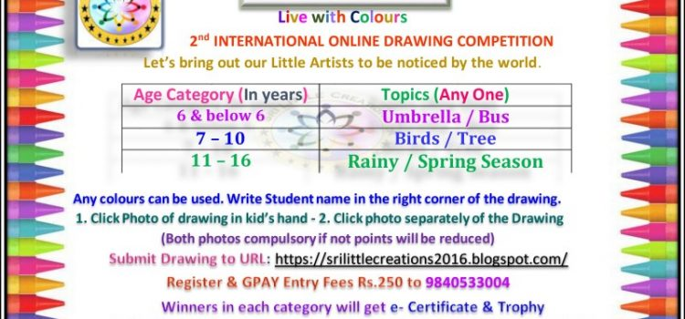 SRI LITTLE CREATIONS – ONLINE DRAWING COMPETITION