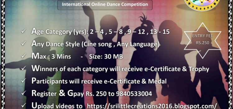 SRI LITTLE CREATIONS – ONLINE DANCE COMPETITION