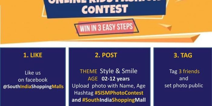 South India Shopping Mall – Online Kids Fashion Contest