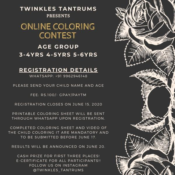 Twinkles Tantrums Online Coloring Contest Kids Contests