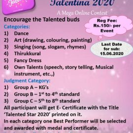 Twinkling Star Kids Presents Talentina 2020 – A mega online Contest for Talented Buds