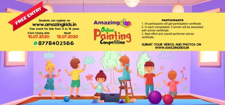 Kids Online Drawing and Painting Contest by Amazingkids.in
