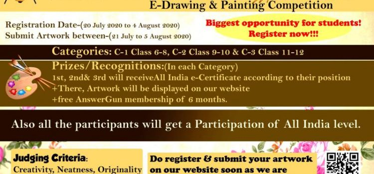 All India E-DRAWING & PAINTING COMPETITION for school students