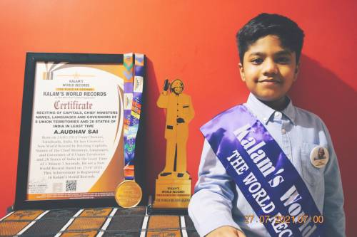 A .Audhav Sai   Tiny Talent with an amazing Memory Power & Kalam's  Record Holder