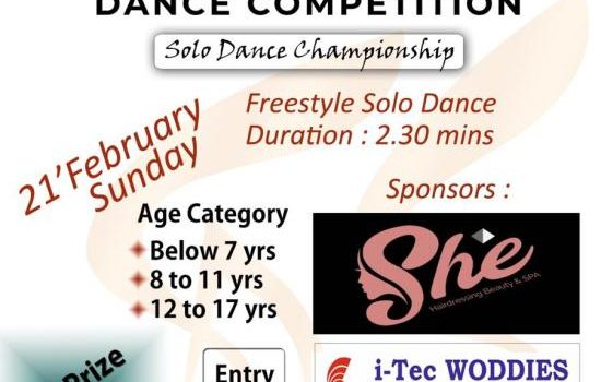 Beatz Solo Dance Competition on 21 February 2021