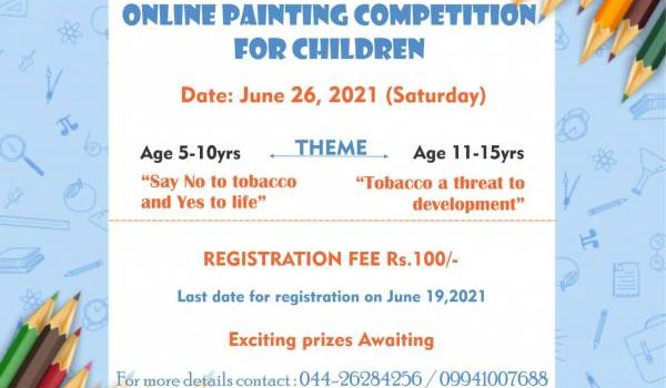 SMF – CANSTOP Online Painting Competition for Children   June 2021