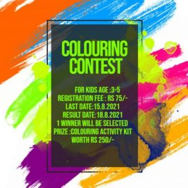 Coloring Contest for Kids aged 3-5 years