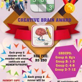 Smart Super Stars presents  Creative Brain  Award Online Competition 2021