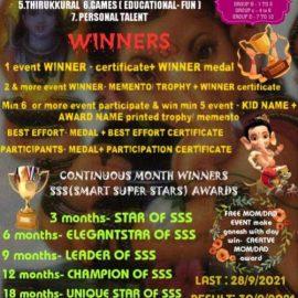 SMART SUPER STARS CREATIVE KID AWARD (CKA) ONLINE COMPETITION 2021