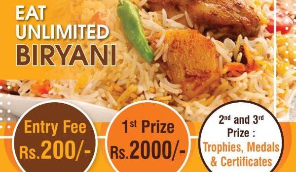 SBA ACADEMY Valasaravakkam Presents Eat Unlimited Biriyani Competition