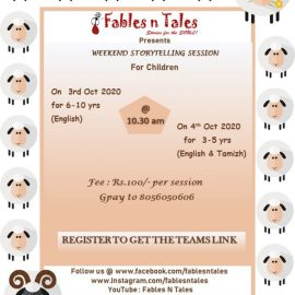 October 3 & 4 | Fables N Tales Weekend Storytelling Session