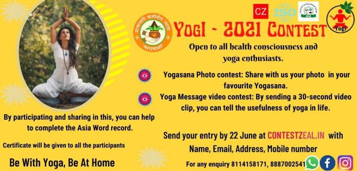 Free International Yoga Day Contest (YogI-2021)