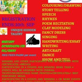 Harsh Twinkle Stars All India National Level Online Contest September 2021
