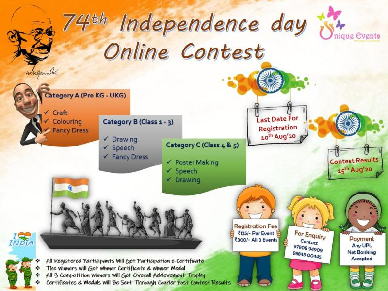 Unique Events Independence Day Online Competition 2020 Kids Contests
