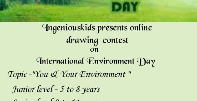 National Level Online Drawing Contest on World Environment Day 2021 by Ingeniouskids