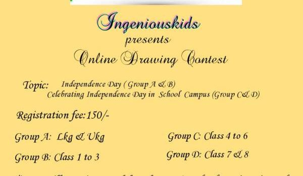 Ingeniouskids Online Drawing Contest on Independence Day