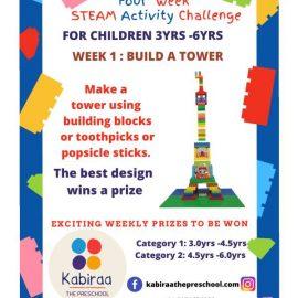 Four Week STEAM Activity by Kabiraa Preschool | NO ENTRY FEE