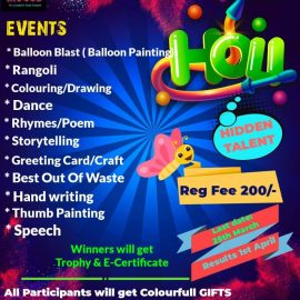 KIDOOS Presents HOLI Special Contest COLOURS OF LIFE