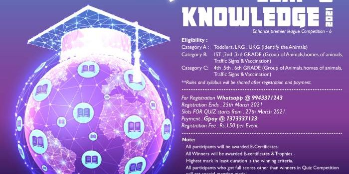 Enhance Team Presents Leap of Knowledge | Online Quiz Competition 2021