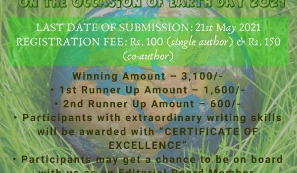 Online Article Writing Competition on Earth Day – Lex Repository
