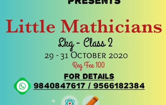 Sparkling Stars Presents Little Mathicians