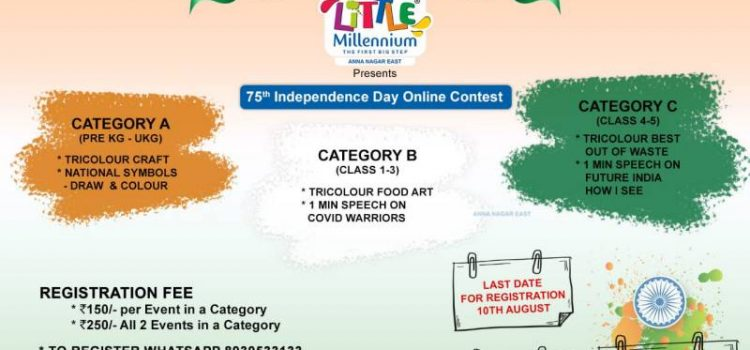 Little Millennium Anna Nagar East 75th Independence Day Online Contest