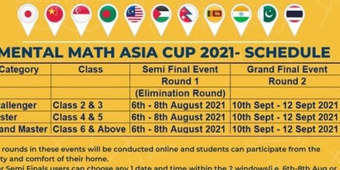 Mental Math Asia Cup 2021( 2021-2022)