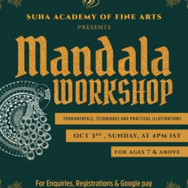 Mandala Art Workshop organised by Suha Academy