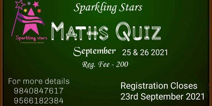 Sparkling Stars announces Next Contest Maths Quiz