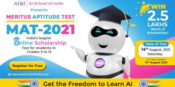 """AI School of India """"Meritus Aptitude Test 2021"""""""