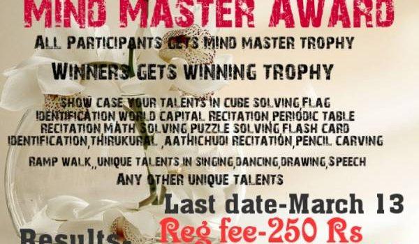 Enchanting Kids New Event | Mind Master Award