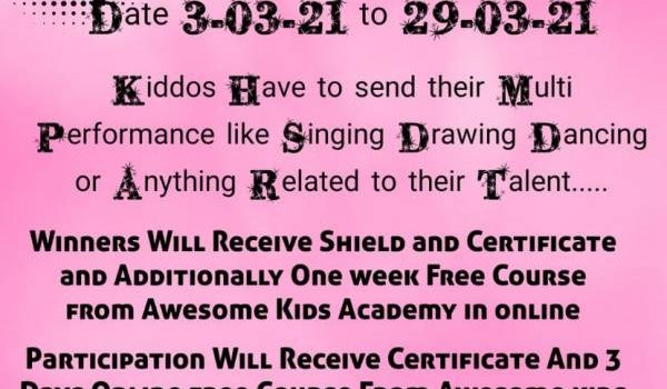 Awesome Kids Multi Star Performer
