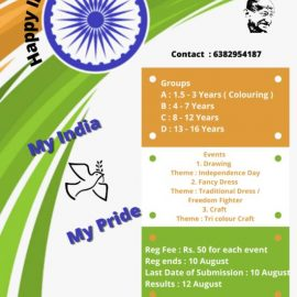 CREATIVELY UNIQUE presents My India My Pride Competition
