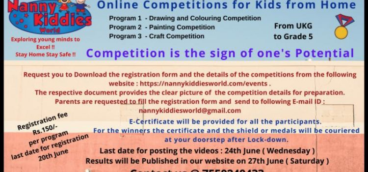 ONLINE ARTS COMPETITION AT NANNY KIDDIES WORLD