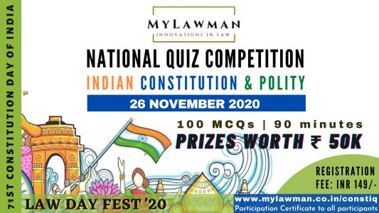 National Quiz competition 2020 on Constitution and Indian Polity