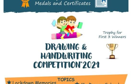 ENTRY FREE – DRAWING & HANDWRITING COMPETITION FOR KIDS