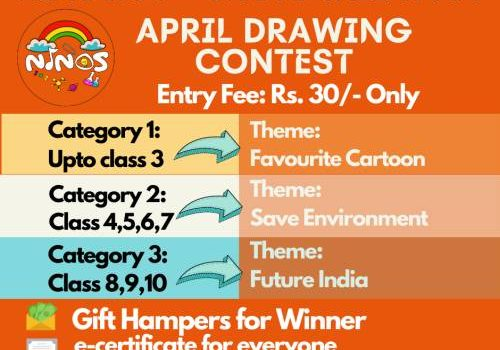 NinosApp Chotu Talent App  April 2021 Drawing Contest