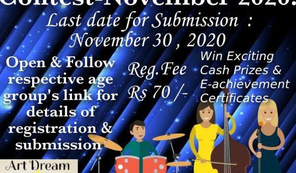 Online Group Singing Contest – November 2020