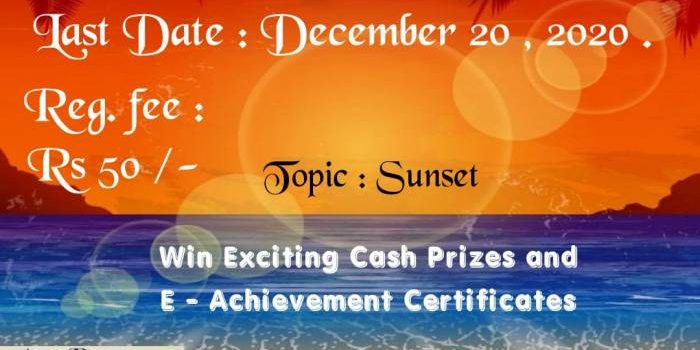 Online Photography Contest – November & December 2020