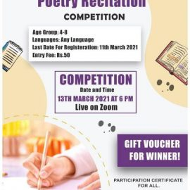 National Level Poetry Recitation Competition for Kids Live on Zoom