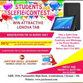 Online Students Selfie Contest by Jupiter Skill Academy Chennai