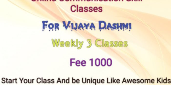 Awesome Kids Online Communication Skill Class for Vijaya Dashami
