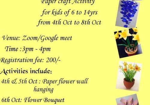 Ingeniouskids Dusshera Special 5 days Online Paper Flower Activities for Kids