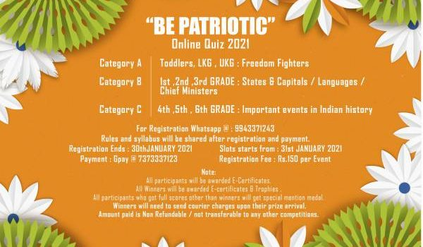 Be Patriotic Online Quiz 2021 | Enhance Premier League Competition – 4