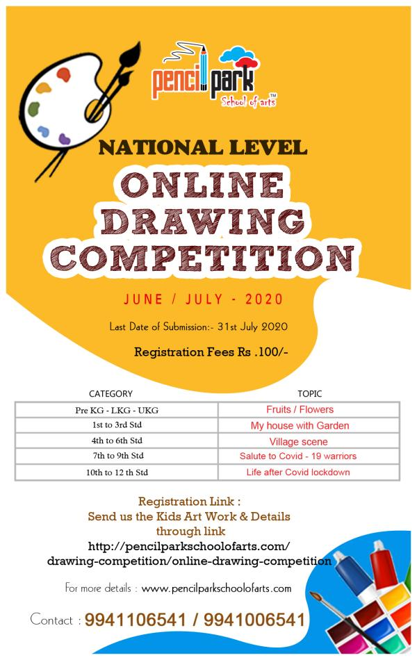 Pencil Park School of Arts Online Drawing Competition June ...