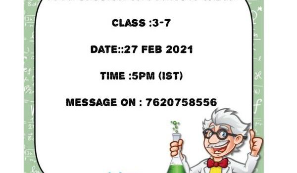 Free Session on Periodic Table on 27 Feb 2021