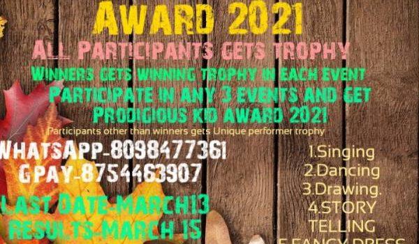 PRODIGIOUS KID AWARD 2021 from Enchanting Kids