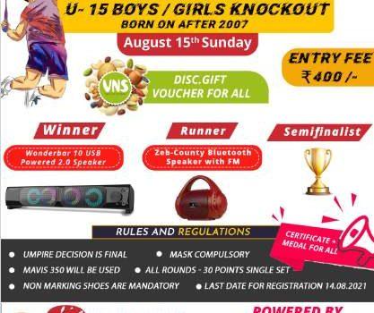 SBT   Sportena Badminton Tournament for School Children