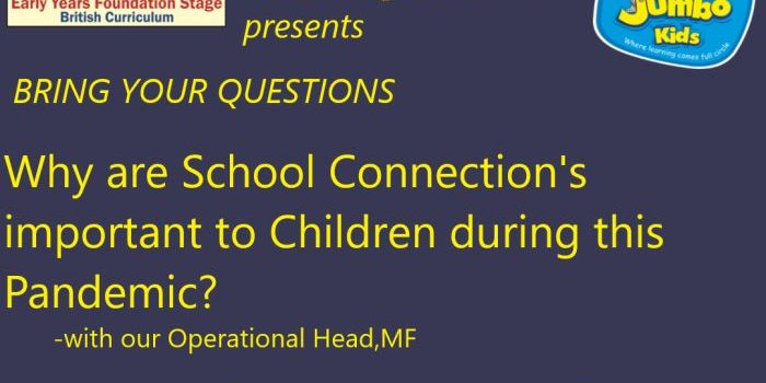 PJKP, Mugalivakkam Session on WHY ARE SCHOOL CONNECTION IMPORTANT TO CHILDREN DURING THIS PANDEMIC?