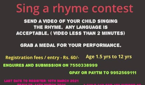SING A RHYME / POEM CONTEST PRESENTED BY HI TECH